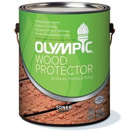 Olympic Wood Protector 1 Gallon Redwood Naturaltone Semi Transparent Exterior Stain Deck Porch Exterior Stain Exterior Outdoor Rooms