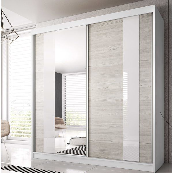 Gulledge 2 Door Sliding Wardrobe in 2020 | Modern closet ...