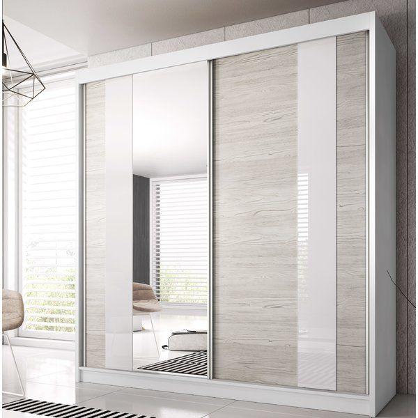 Gulledge 2 Door Sliding Wardrobe in 2020 | Modern closet ...