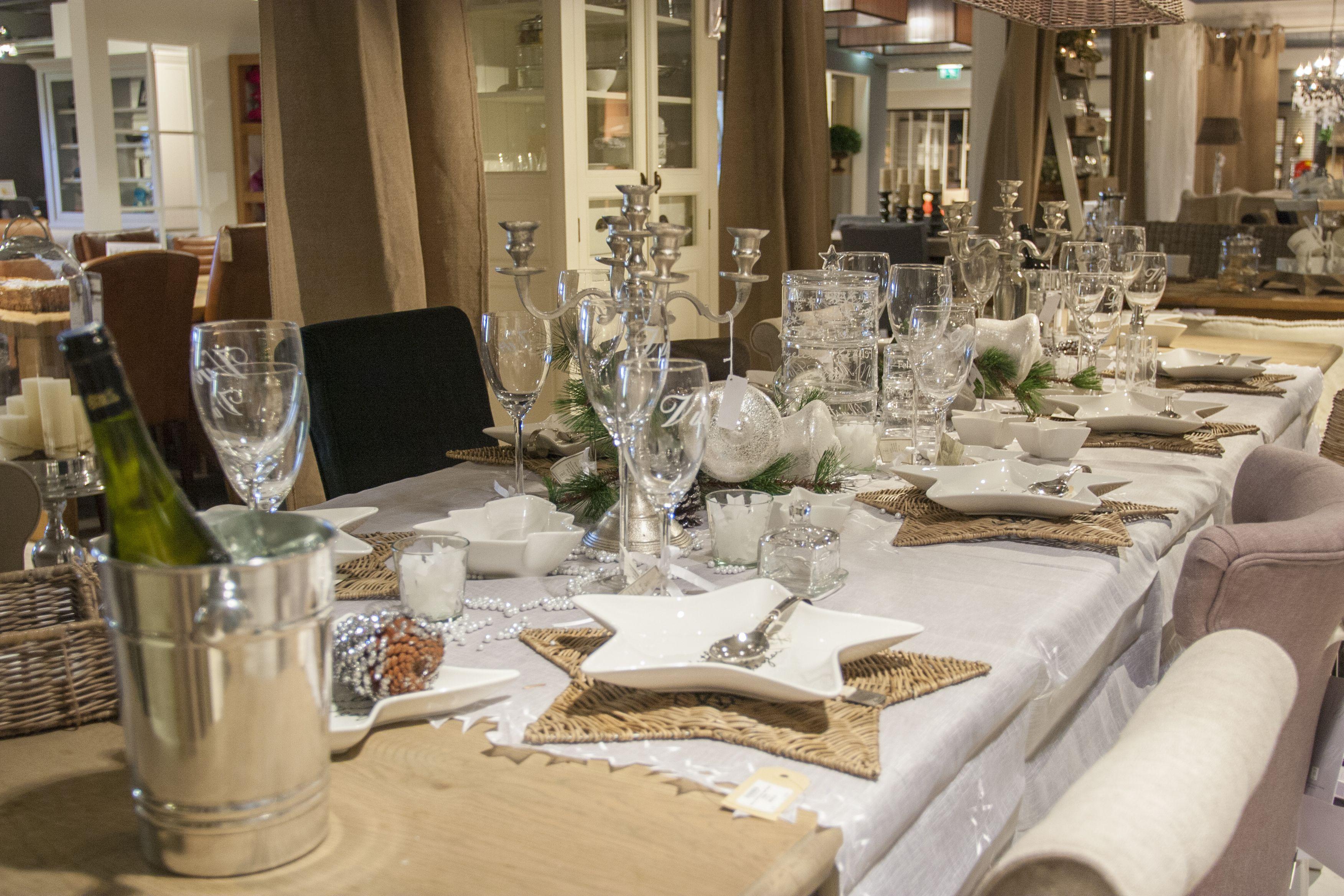 Feestdagen Kersttafel Aankleden : Mooi gedekte tafel in kerstsfeer op onze rivièra maison afdeling