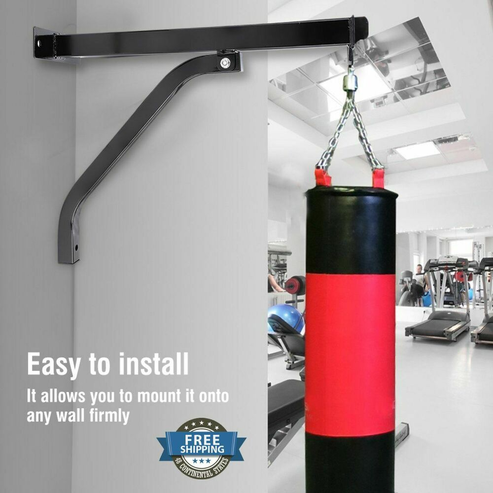 Punching Bag Bracket Steel Mount Hanging Heavy Stand Boxing MMA Training US Wall