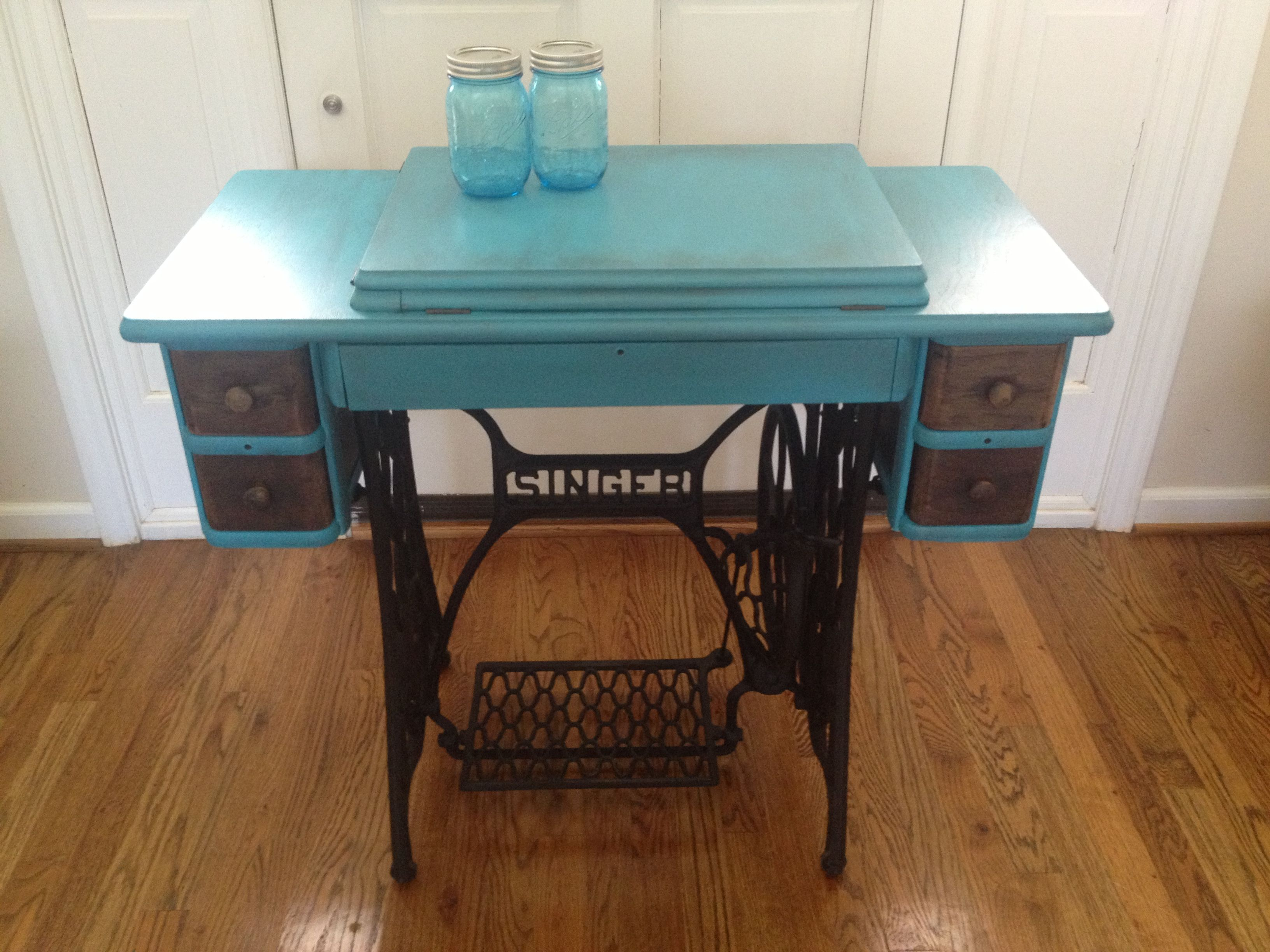 My Antique Singer Treadle Sewing Cabinet Redo Repurposed