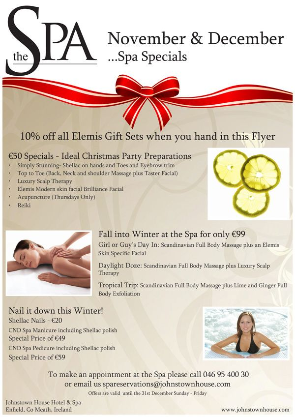 christmas spa promotions ideas