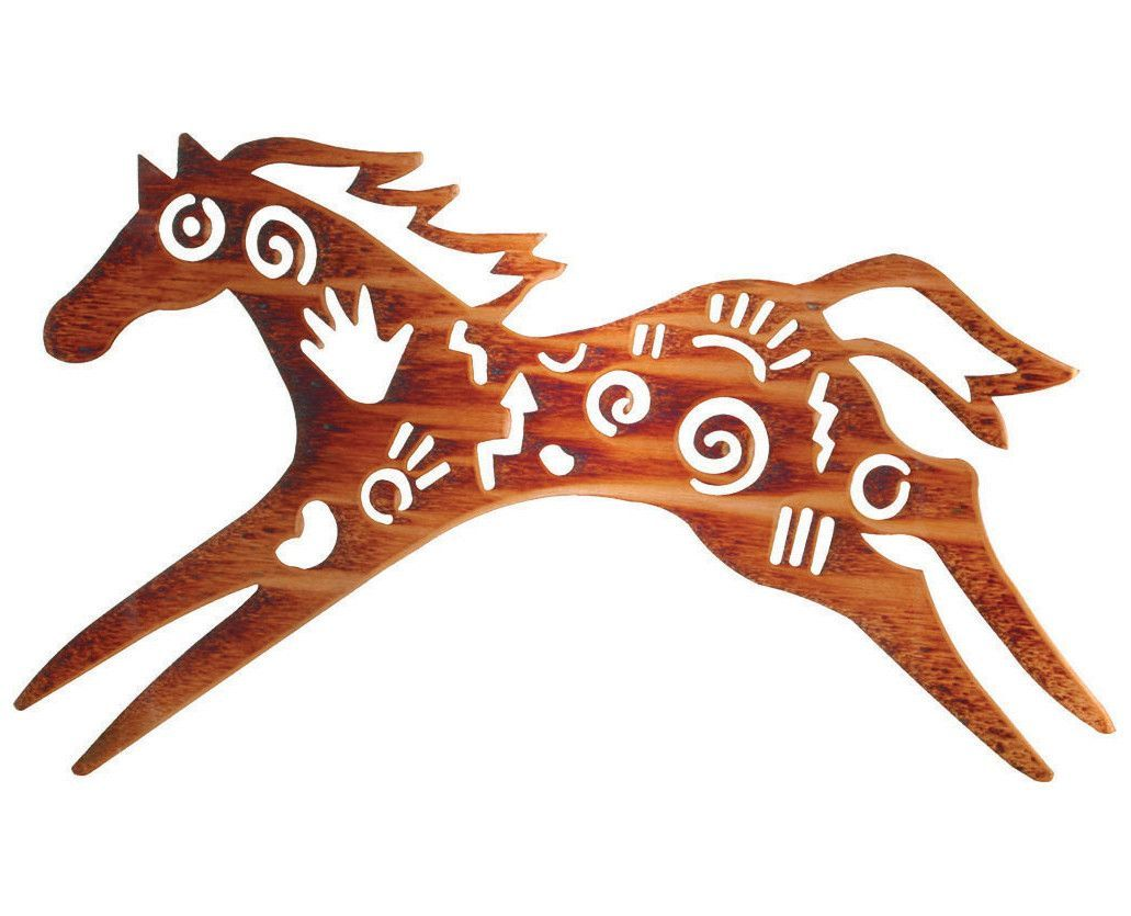 Tribal horse metal wall art sculpture products pinterest wall