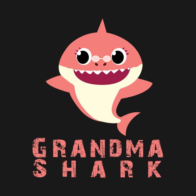 Grandma Shark Baby Shark Song Clip Art Funny Christmas And Birthday Party Gift Ideas Baby Shark T Shirt Teepublic