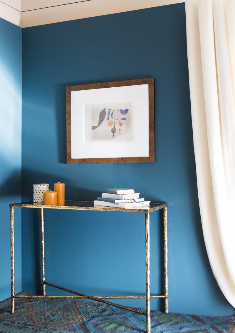 Wandgestaltung in Blau  Deko interieur, Elegantes wohnzimmer