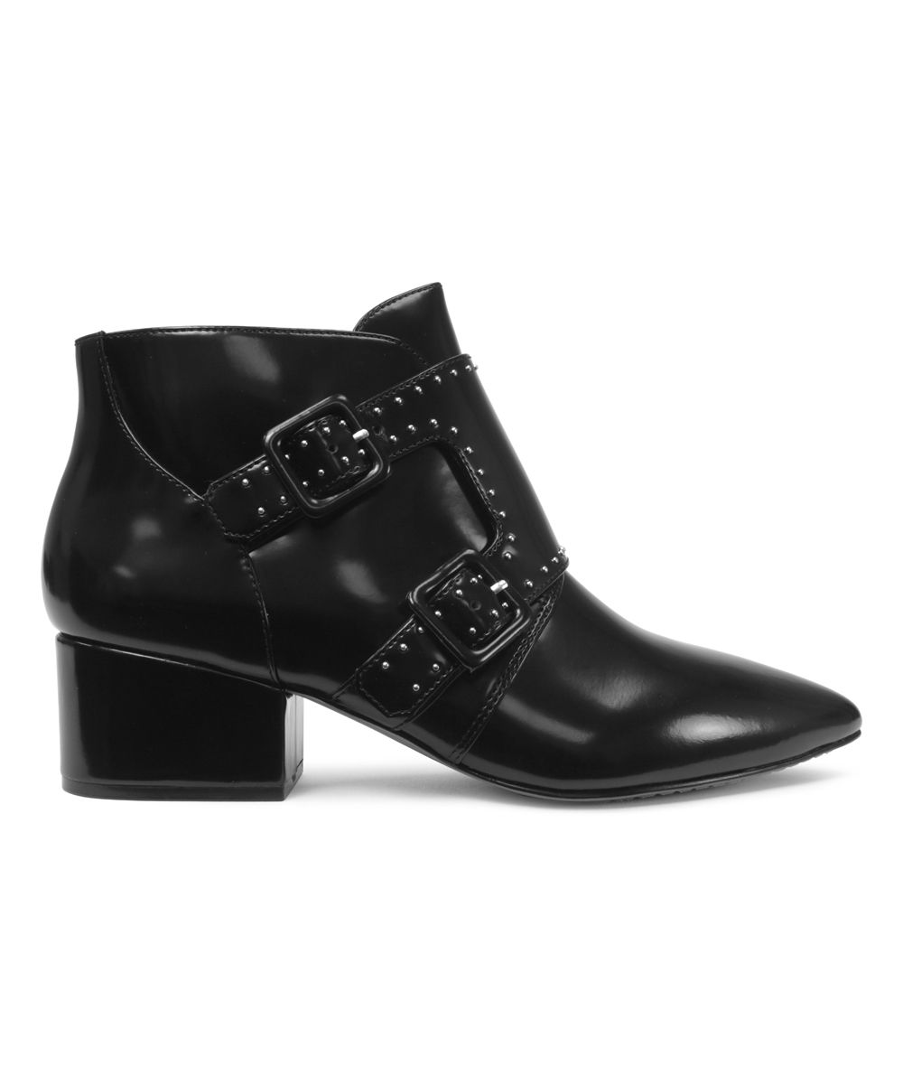 Black Roree Leather Ankle Boot