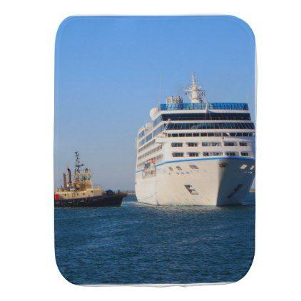 Cruise Ship And Tug Baby Burp Cloth Cruise Ships Cruises And Ships - Baby on cruise ship