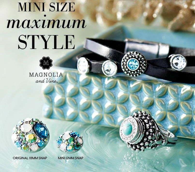 New Mini Snaps!! www.mymagnoliaandvine.ca/ROBBIKIRK/   Magnolia and Vine. New Direct Sales company Canada