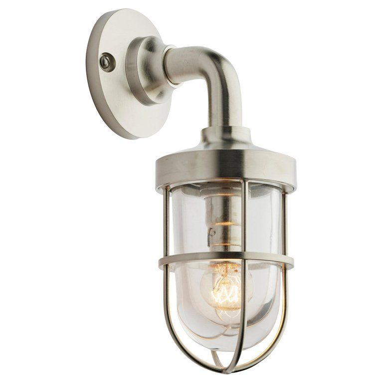 Tekna Bounty Wall 12v Wall Light With Brushed Nickel Finish And Clear Glass