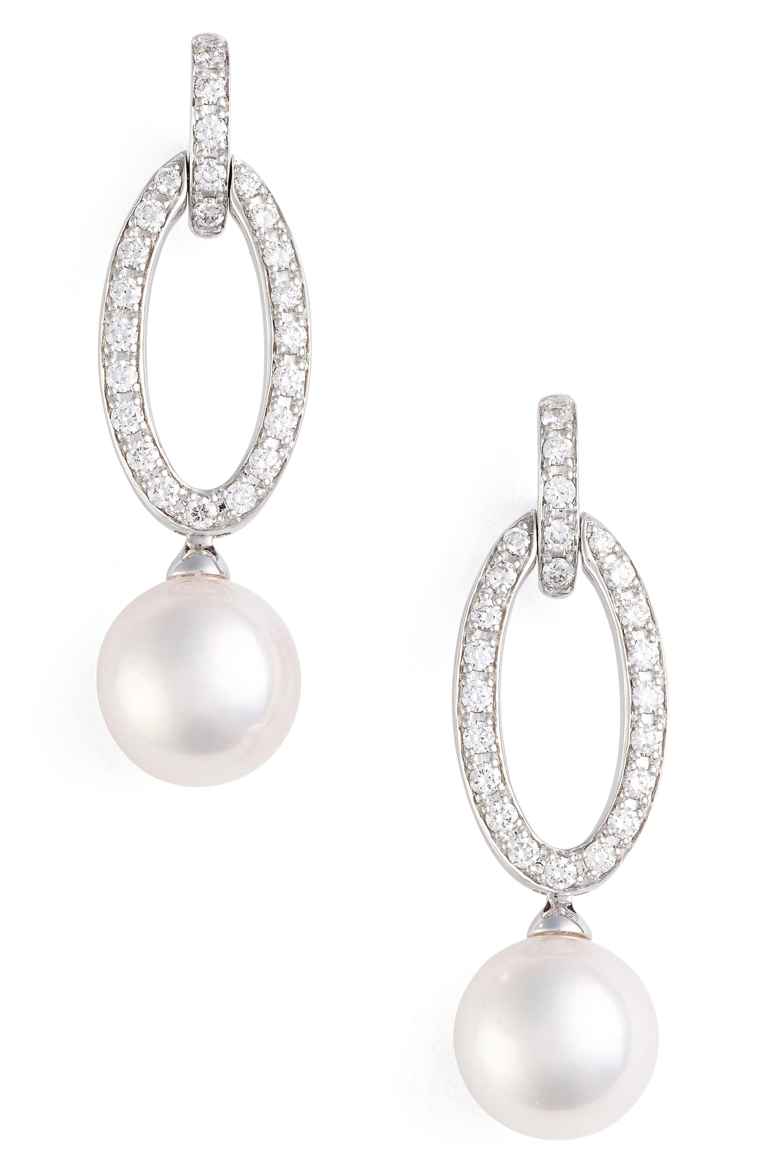 c7d93d7b0 Women's Mikimoto Diamond & Pearl Drop Earrings | Products in 2019 ...