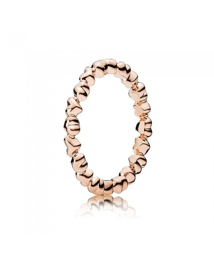136995862260e Pandora Rose Gold Love Hearts Ring UK | 15Feb13 in 2019 | Pandora ...