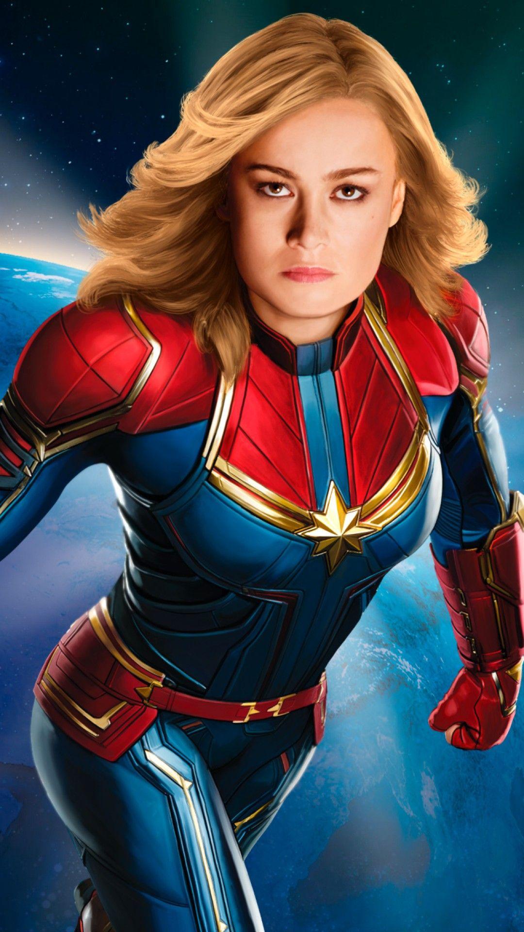 Wallpaper Phone Capita Marvel Full Hd Captain Marvel Captain Marvel Carol Danvers Marvel Heroes