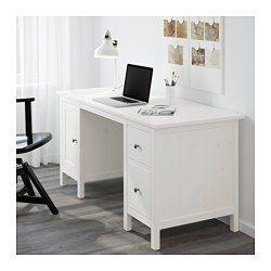Eckschreibtisch ikea hemnes  IKEA - HEMNES, Schreibtisch, weiß gebeizt, , Im Fach unter der ...