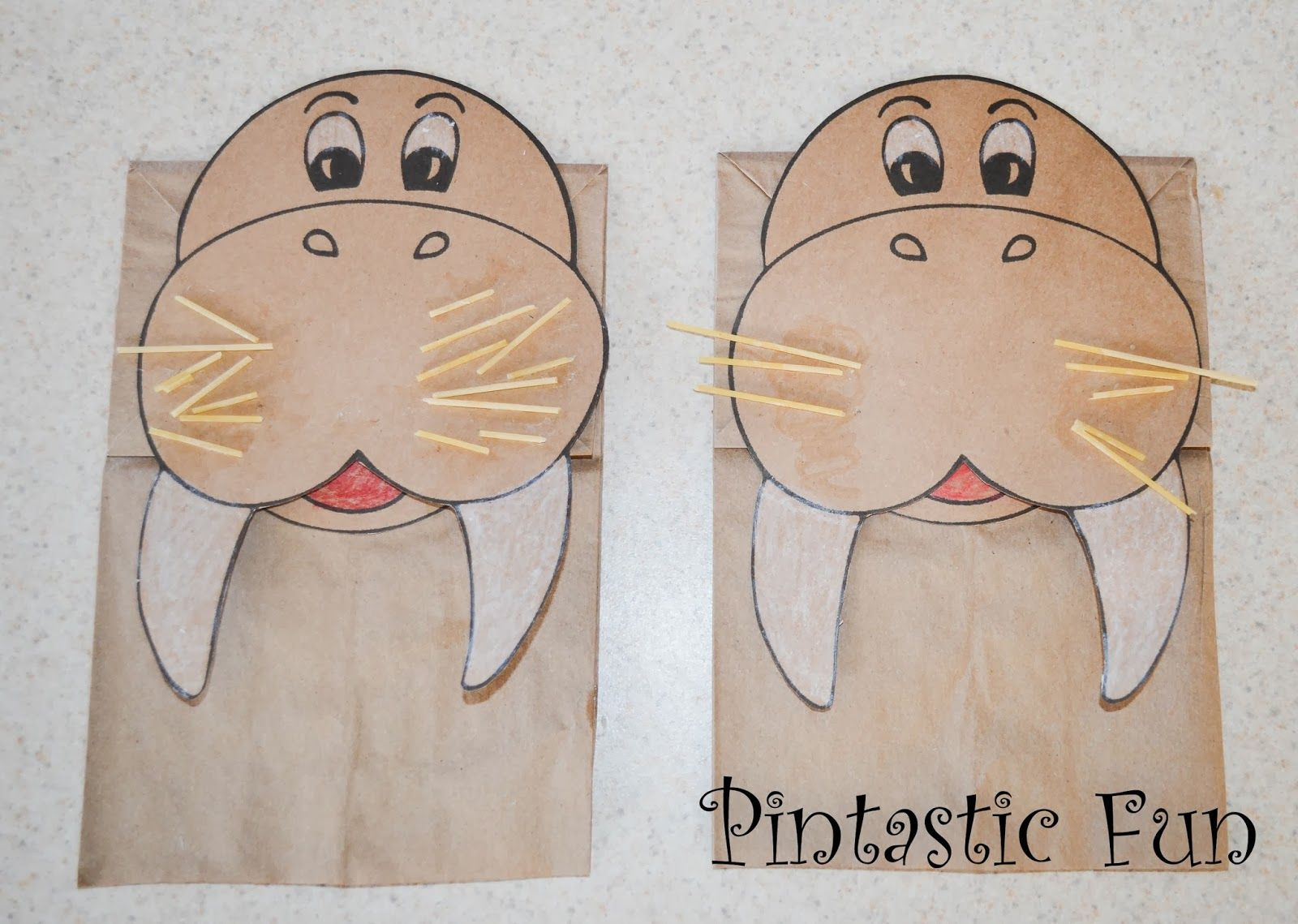 Walrus Puppet With Link To Free Template