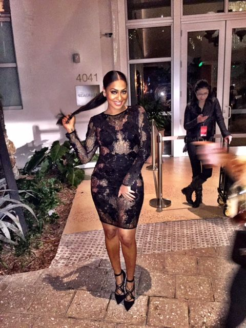 203df794d10 Lala Anthony gave face and major body on New Year s Eve in a cut out black  dress from Mugler s Resort 2015 collection. Yassss! The dress does a lot on  its