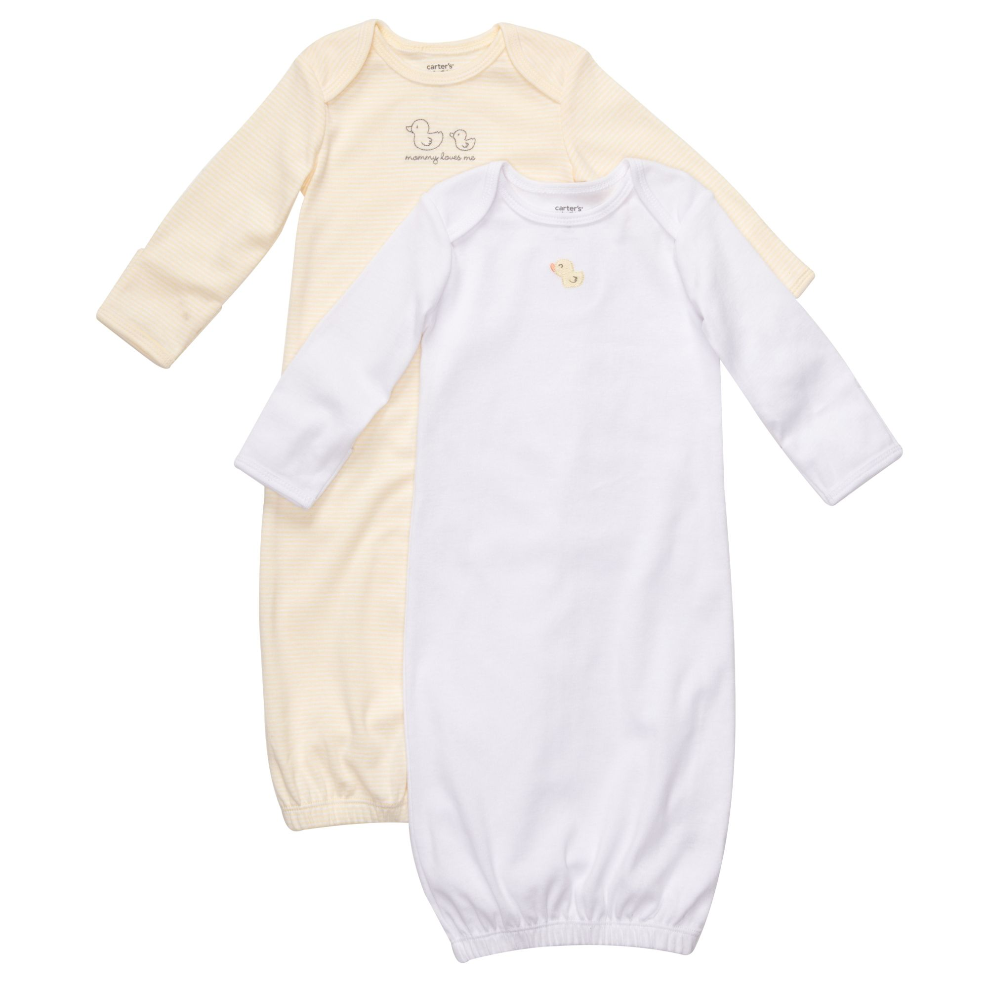 Duck sleeper gowns from Carter\'s - just got these & they\'re so soft ...