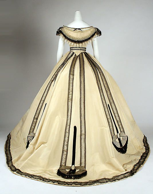 Dress Ball Gown Emile Pingat French Active 1860 96 Date Ca 1860 Culture French Medium Silk Fashion Victorian Fashion 1860 Fashion