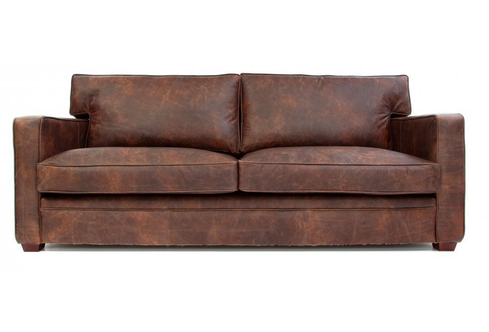 Whitechapel 3 Seat Vintage Leather Sofa Bed from Old Boot Sofas ...