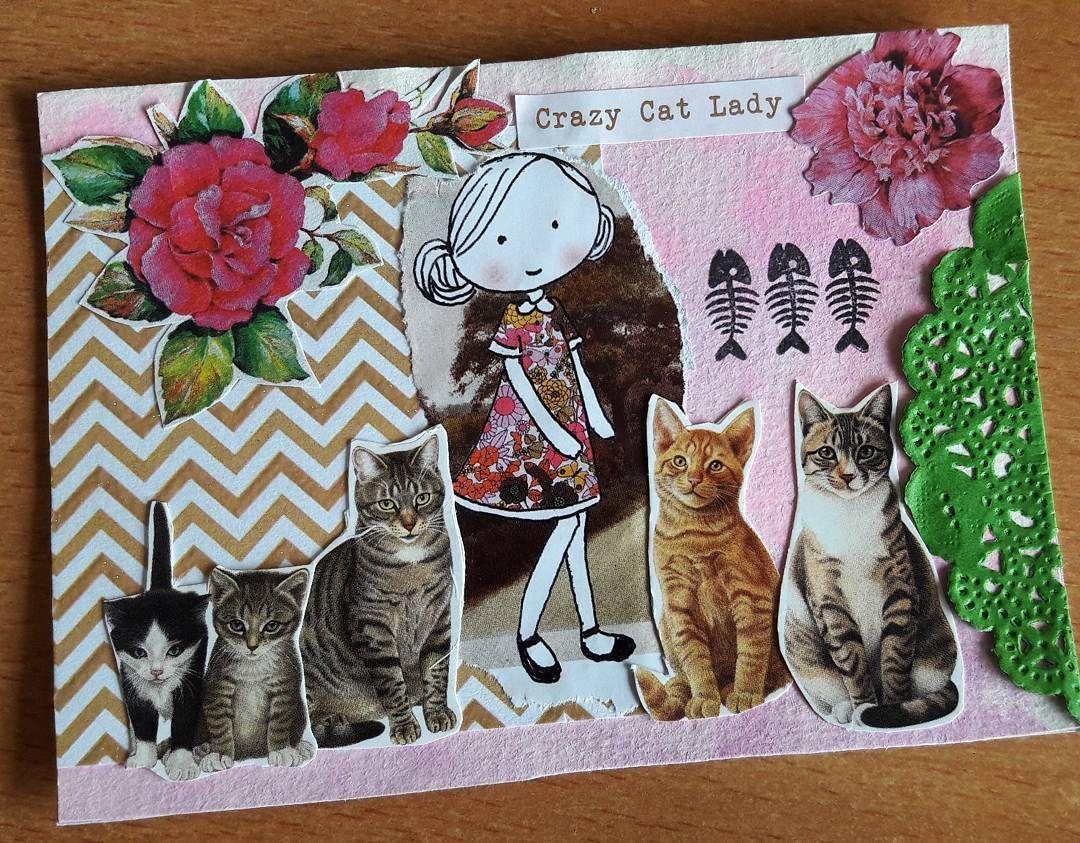 "83 Likes, 6 Comments - Elizabeth Pinheiro (@pinheiro_elizabeth) on Instagram: ""The crazy cat lady #flowmeisje #flowmagazine #collage #handmade #catlover #cats"""