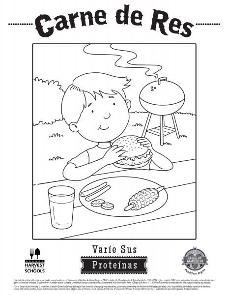 Coloring Pages Food Hero Healthy Coloring Sheets For Meat Beef