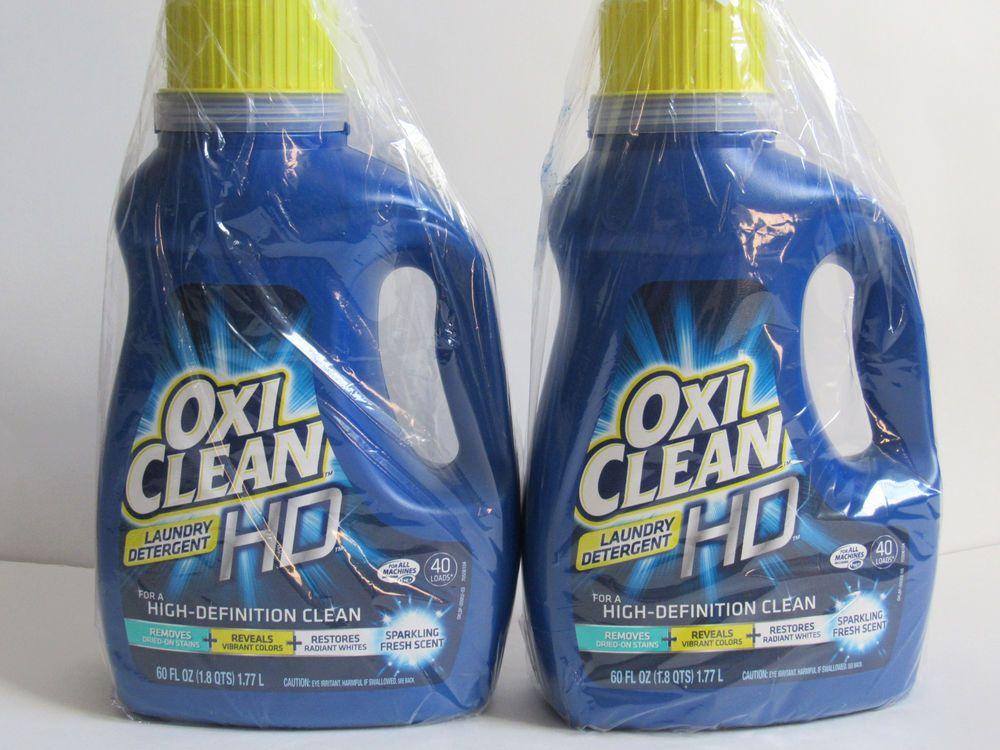 Oxi Clean Hd Laundry Detergent 40 Loads 2 60 Oz Bundle Sparkling