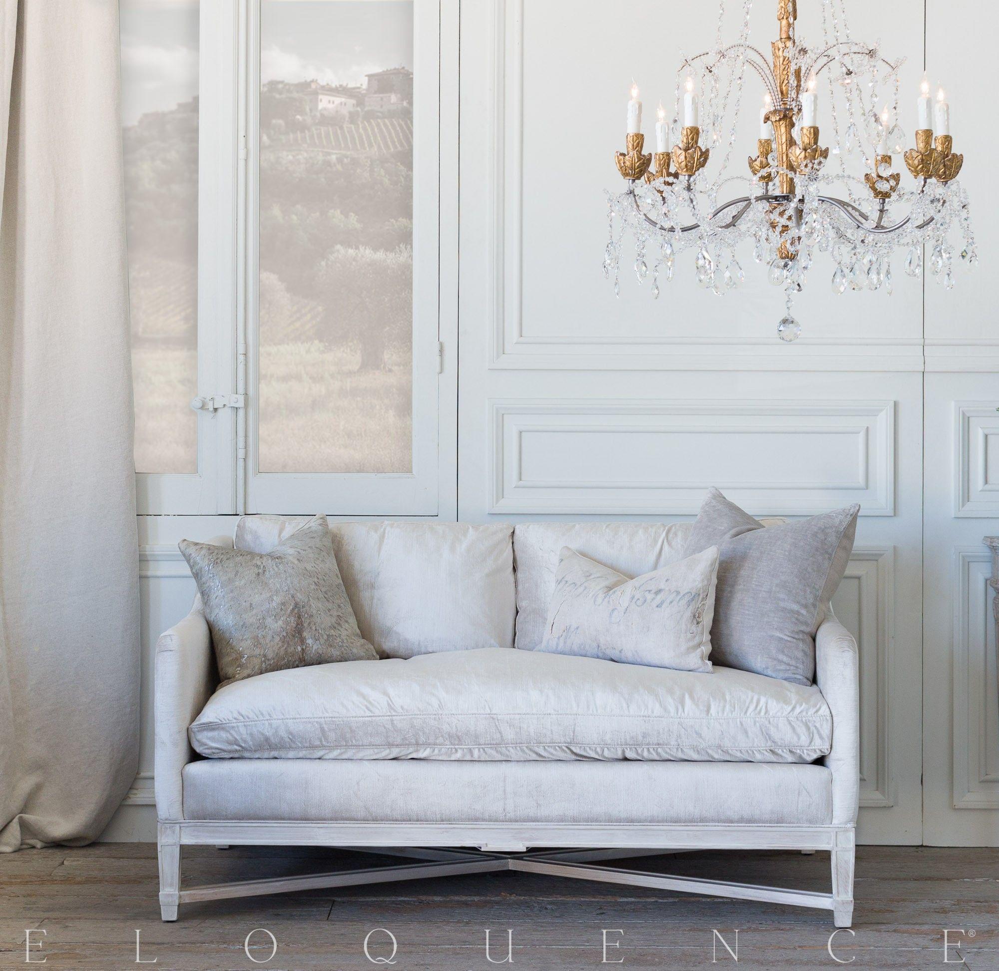 Eloquence Scandinavian Loveseat In Dove Velvet And Worn Oak Finish Love Seat Top Quality Furniture Velvet Slipcovers