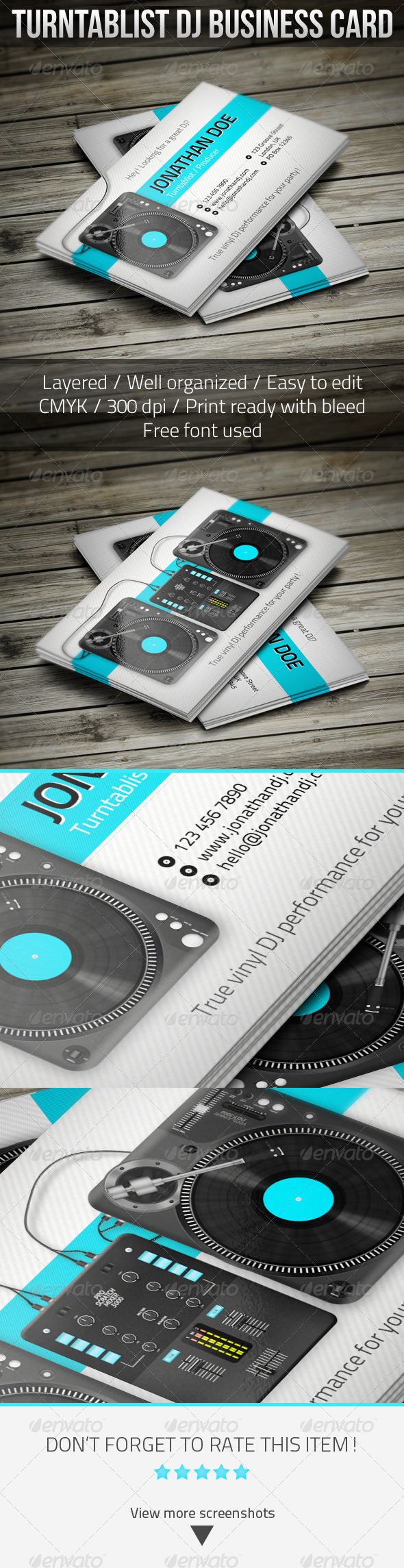 Turntablist dj business card dj business cards business cards and dj turntablist dj business card template psd download here httpgraphicriver wajeb Gallery
