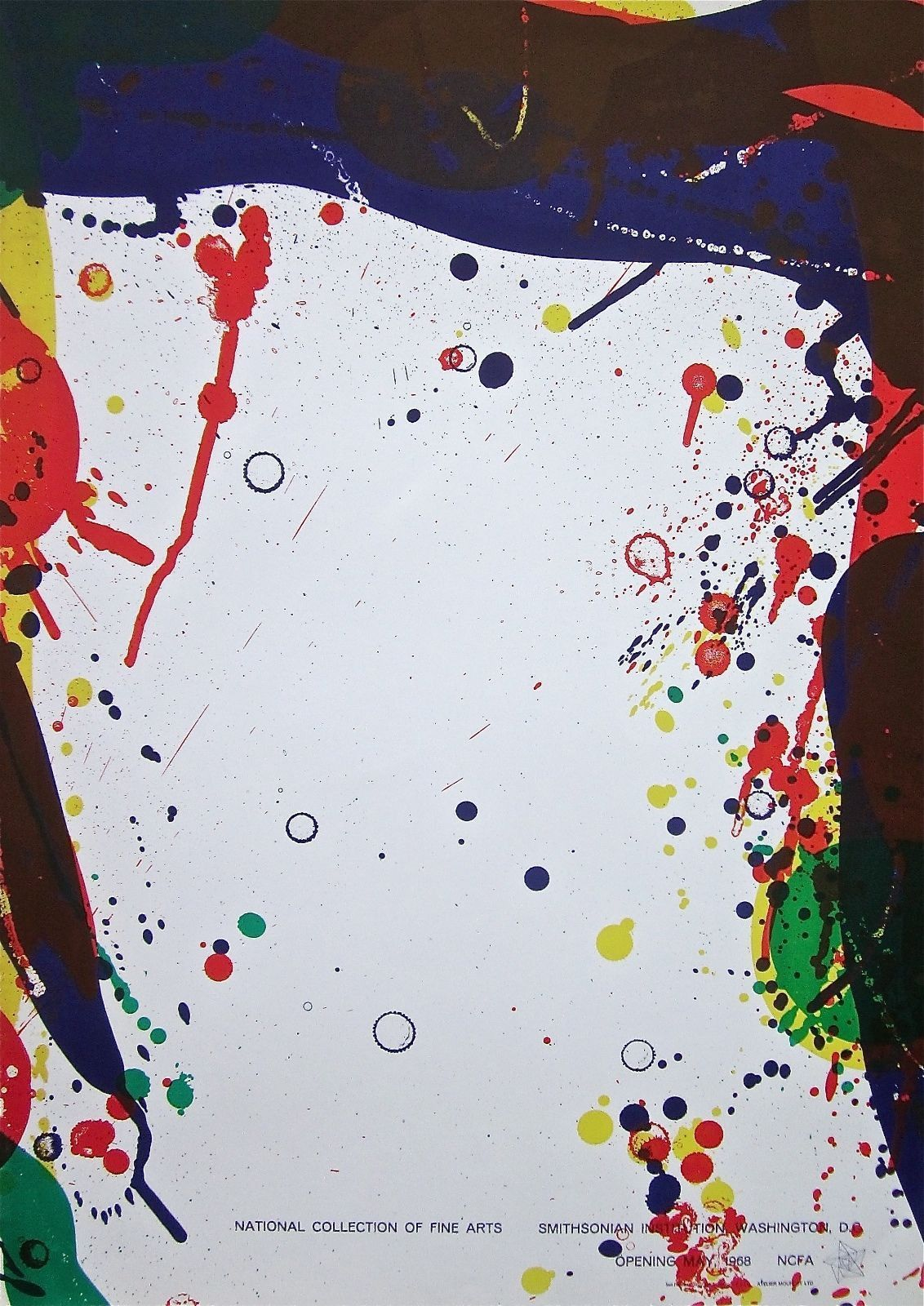 Untitled, 1968 Exhibition Poster, Sam Francis
