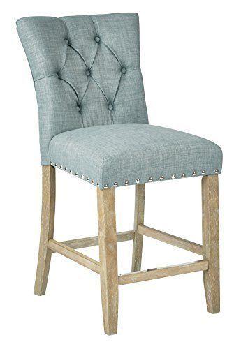 Preston 24 034 Counter Stool In Marlow Bluebird Fabric 2 Pack