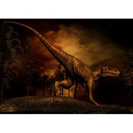 Bistahieversor was a tyrannosaurid dinosaur from the Late Cretaceous Period Canvas Art - Philip BrownlowStocktrek Images (17 x 12)