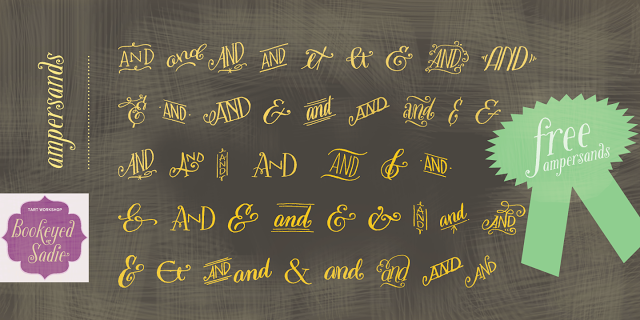 new and improved Ampersand font, Design freebie, Myfonts