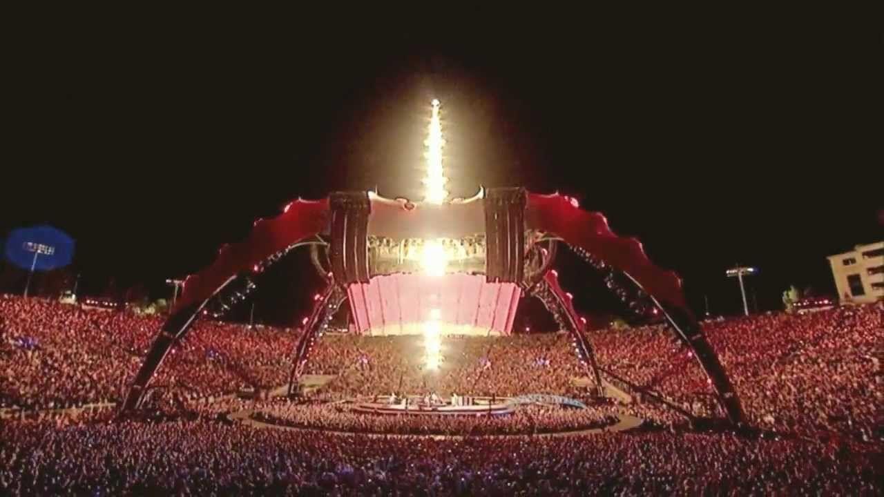 U2 - Where The Streets Have No Name - 360 Tour - Rose Bowl