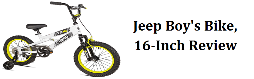 Jeep Boys Bike In 16 Inch With Training Wheels From The Best