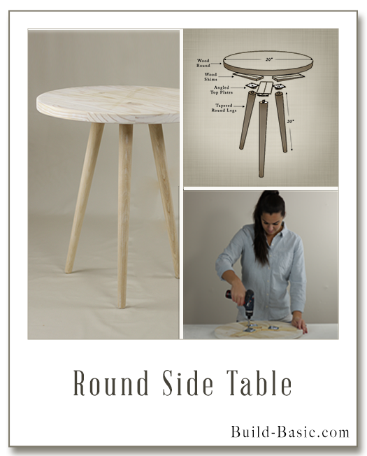 Build A Round Side Table Building Plans By Buildbasic Www Build Basic Com Side Table Wood Round Side Table Diy Furniture Bedroom