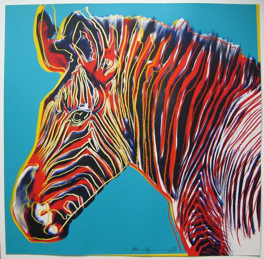 andy warhol u201cgrevy u0027s zebra u201d 1983 color pinterest warhol