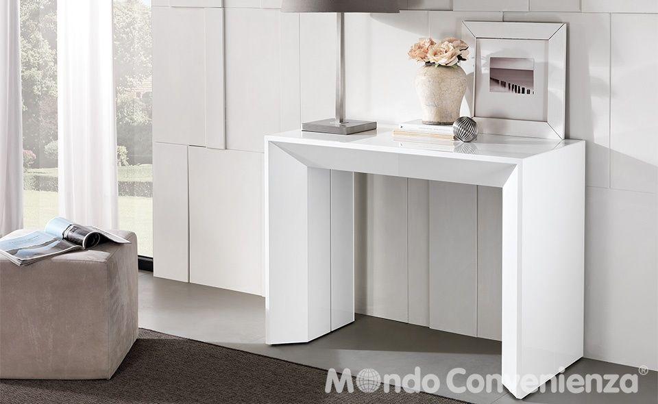 Dettaglio tavolo e sedia consolle mondo convenienza for the home pinterest - Tavolo in vetro mondo convenienza ...