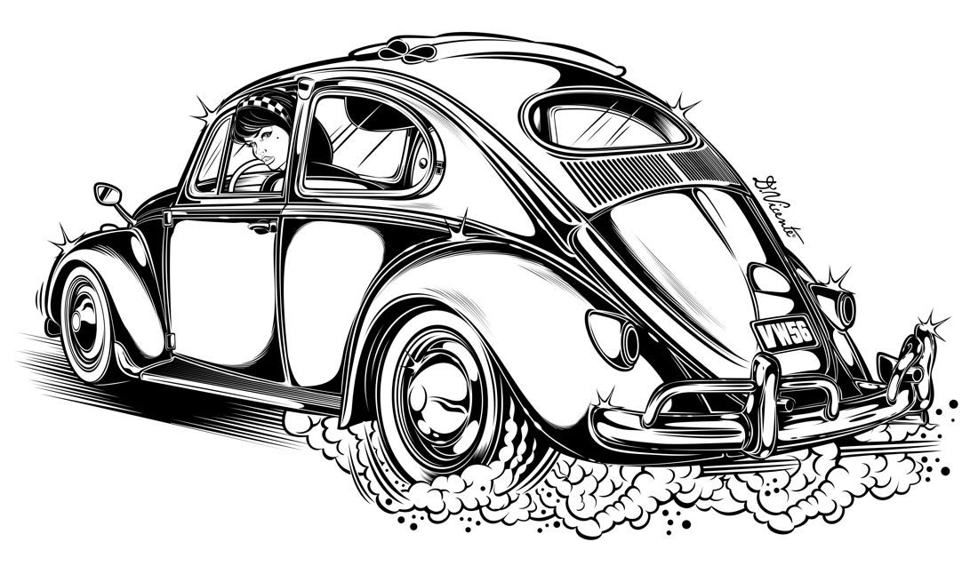 Pin by Rob Laffoon on vw | Volkswagen, Beetle drawing, Car