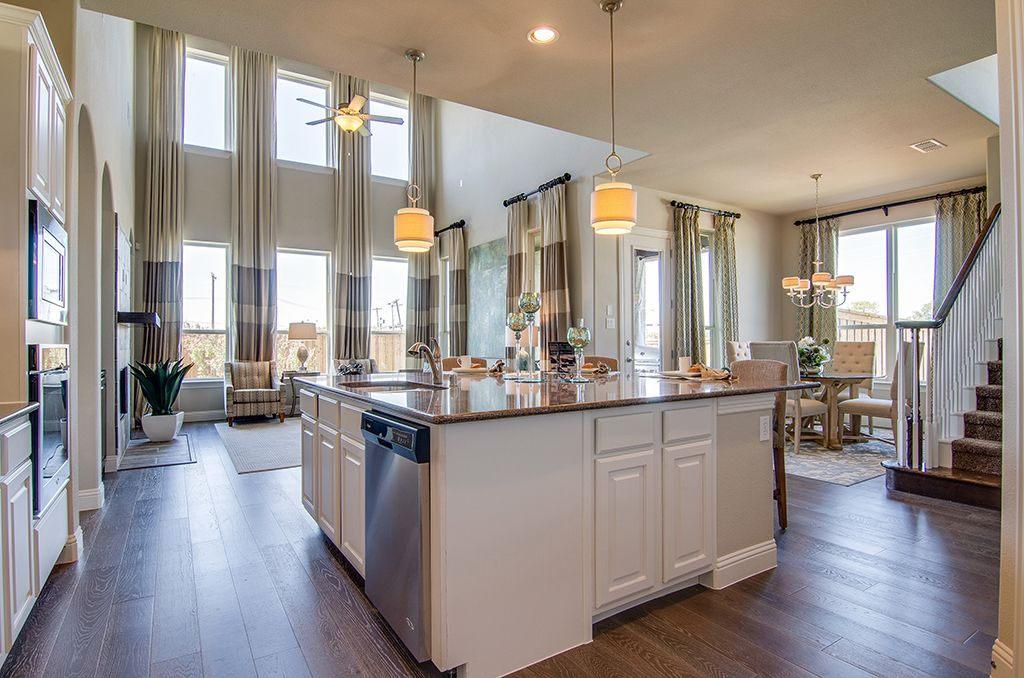 Gehan Homes Kitchen - Large Granite Island, Open Floor Plan, Light ...