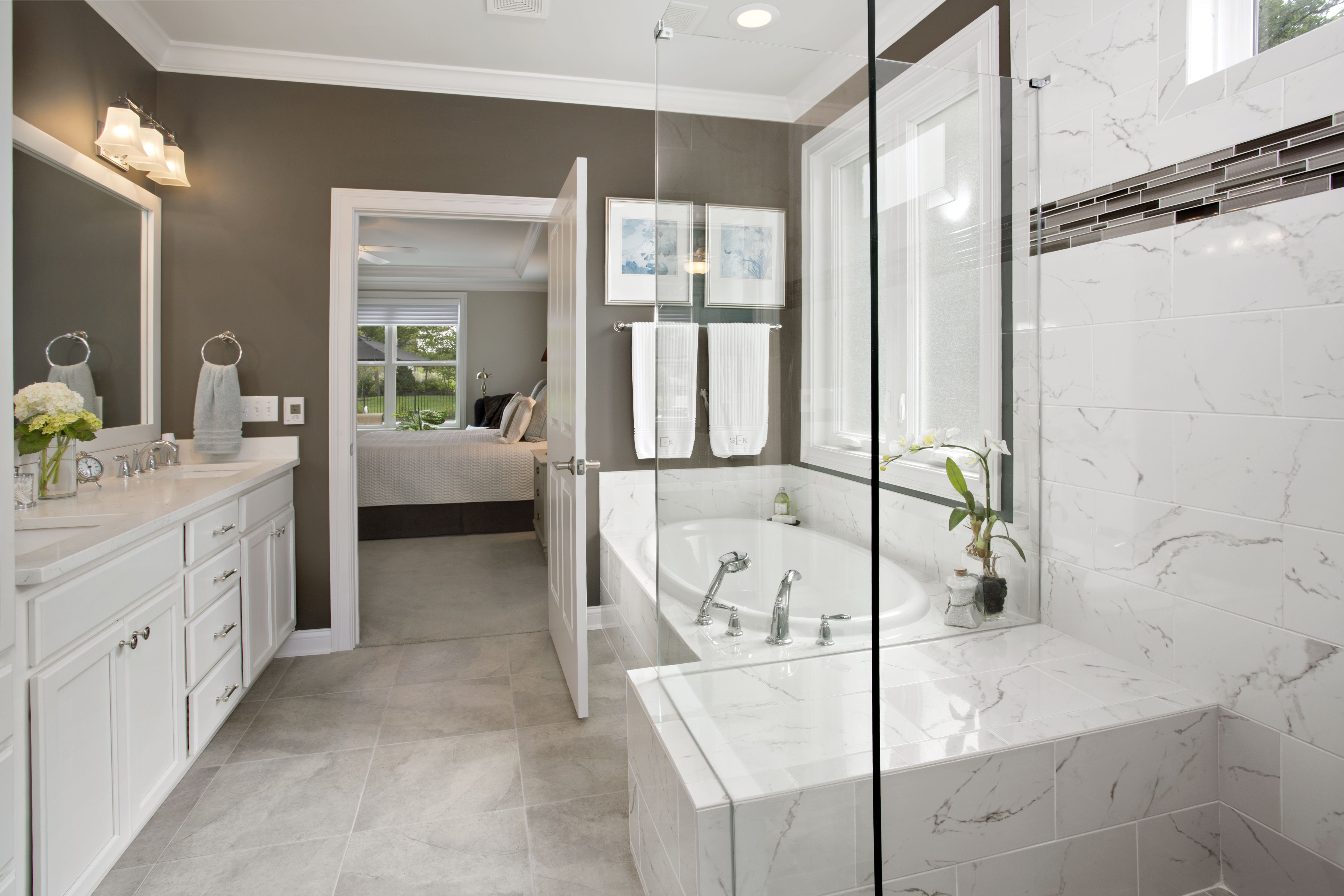 Master bathroom to the sanctuary floor plan by wieland builders
