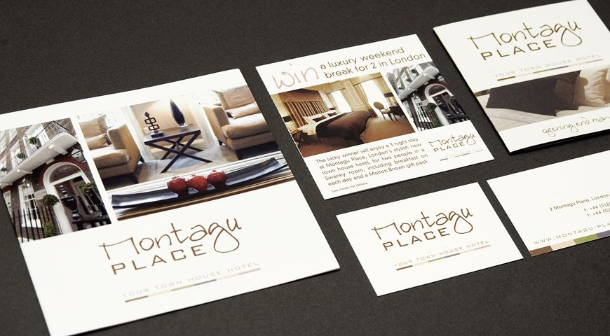 Sales material created for the hotel branding