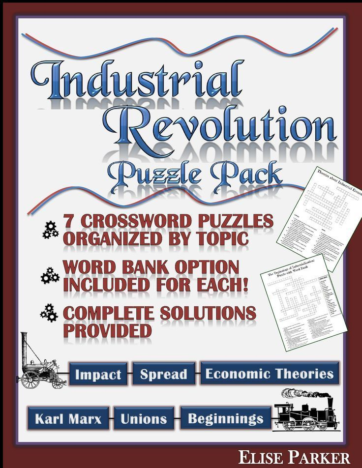 Industrial Revolution Worksheet Puzzle Pack Industrial Revolution Crosswords Industrial Revolution Puzzle Worksheets a great way teach or review key concepts Industrial R...