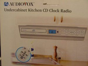 undercabinet kitchen cd clock radio by audiovox 9000 cd payer and digital - Radio Under Kitchen Cabinet