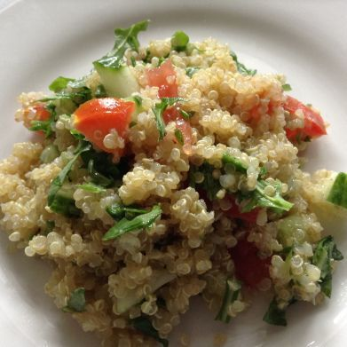 cool A very easy and quick quinoa to make, perfect as a side dish, quick bite or star...