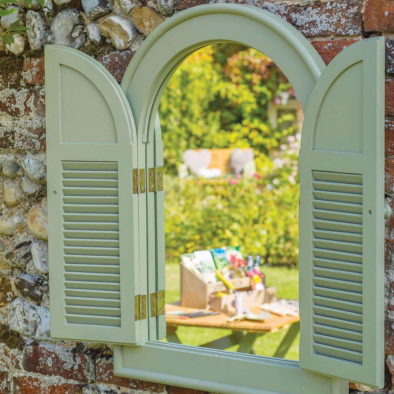 Outdoor Arch Window Mirror Garden Mirrors Arched Window Mirror Arch Mirror