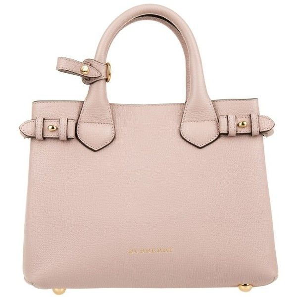 d6f1a36f01ca Burberry House Check Derby Leather Small Banner Tote Pale Orchid in...  ( 1