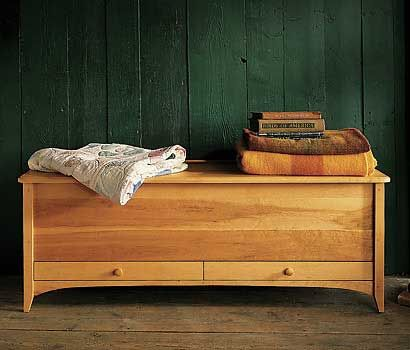 New England Blanket Chest. From Pompanoosuc Mills. American ...