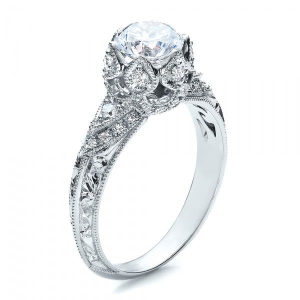 Knife Edge Diamond Engagement Ring - Vanna K #100105 Bellevue Seattle Joseph Jewelry $2,900 (excludes center stone)