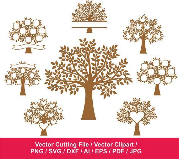 Family Tree Svg Tree Clipart Tree Vinyl Decal Tree Art Print