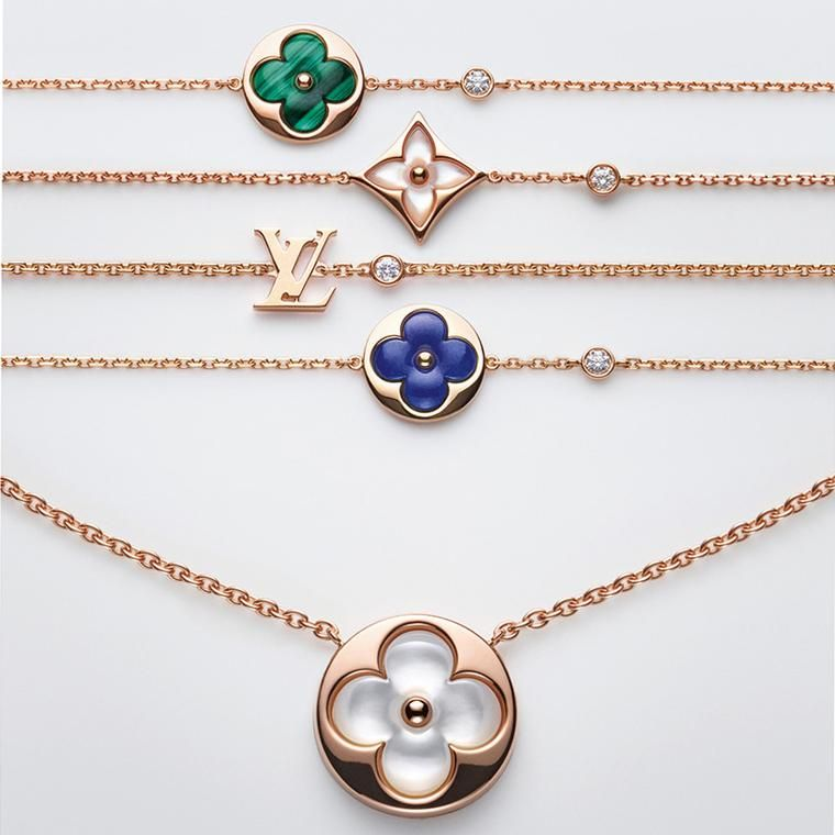 ad9e57d5a17 Louis Vuitton Blossom Color BB jewellery bracelets and necklace